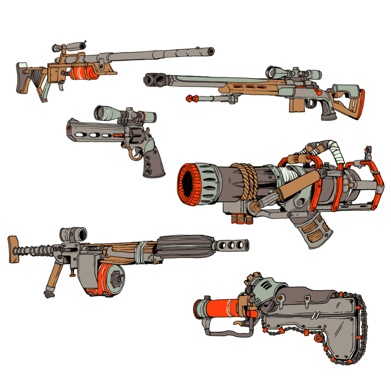 Fallout 4 - WASTELAND WEAPONS / 2017